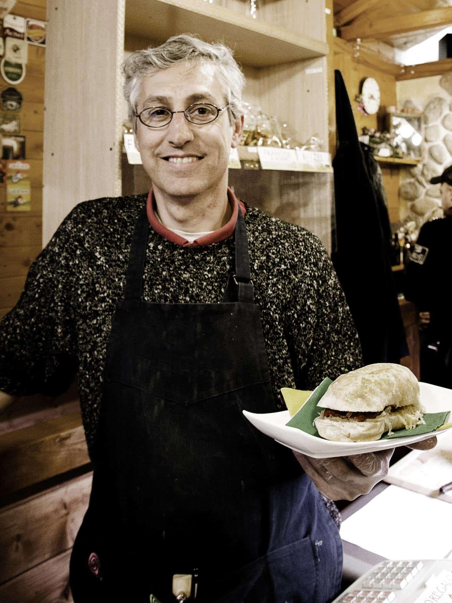 Fabio nella La cucina di Rievoca Beer Tradizione e modernità