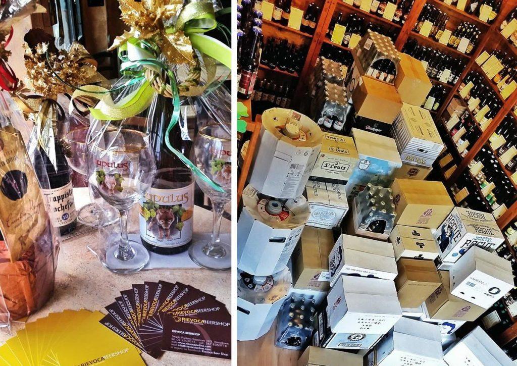Per facilitare la scelta le bottiglie a scaffale sono disposte in ordine di/per paese di provenienza e per grado alcolico. Puoi decidere se berle da noi, seduto al tavolo con gli amici o al bancone, oppure se portarle via.