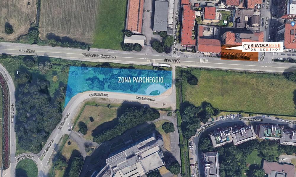Dove parcheggiare vicino a Rievoca Beer: via Pio la Torre incrocio strada Padana)